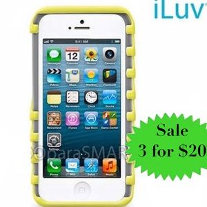 iLuv iPhone cellphone CASE SE 5/5s Gray Yellow new